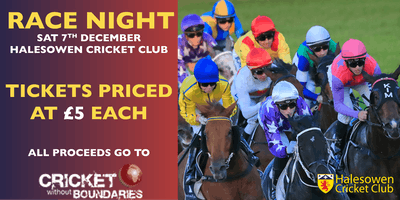 Race Night in aid of Cricket Without Boundaries
