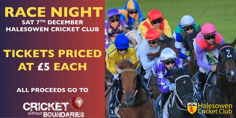 Race Night in aid of Cricket Without Boundaries tickets