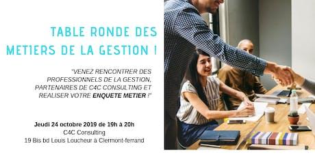 Table Ronde des métiers de la Gestion du 24 Octobre 2019 billets