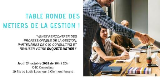 Table Ronde des métiers de la Gestion du 24 Octobre 2019