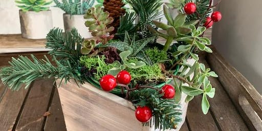 Succulent Holiday Centerpiece Workshop