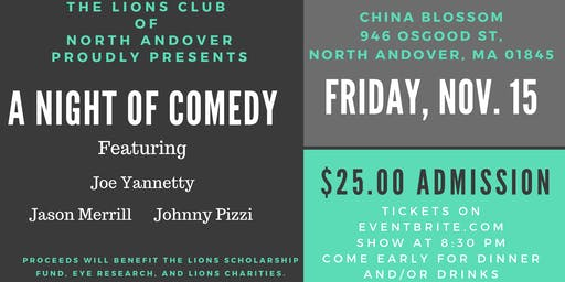 An Evening of Comedy with the North Andover Lions Club