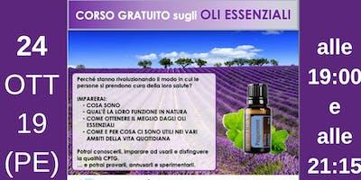 Pescara Corso Gratuito sugli Oli Essenziali