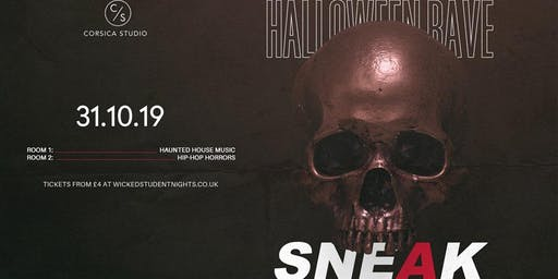Sneak Halloween Rave at Corsica Studios // THIS WILL SELL OUT