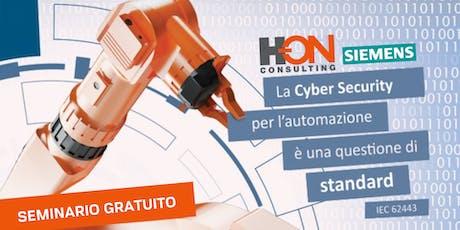 La Cyber Security per l'automazione è una questione di standard: IEC 62443 biglietti