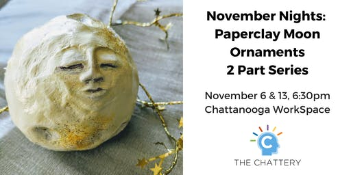 November Nights: Paperclay Moon Ornaments - 2 Part Series
