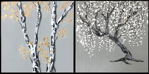 Mixed Media Tree Painting