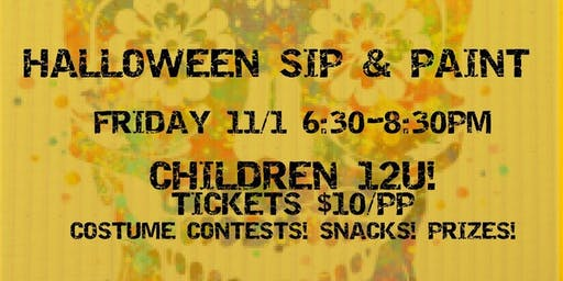 Children's Halloween Sip & Paint