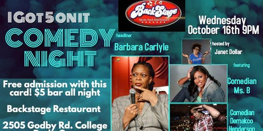 One Night Only!!!! Comedienne Barbara Carlyle