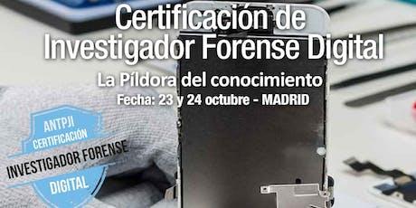 Jornadas de Certificación de Investigador Forense Digital entradas
