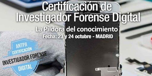 Jornadas de Certificación de Investigador Forense Digital