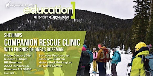 MT SheJumps Companion Rescue Clinic with Friends of GNFAC Bozeman