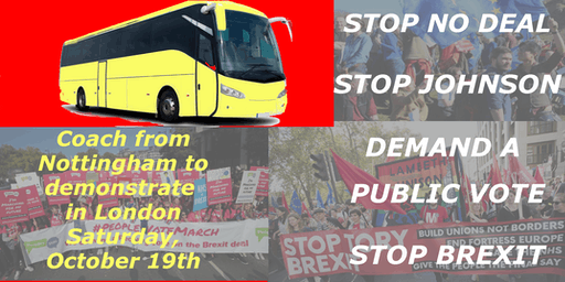 Nottingham coach to Let us be heard - march with the Left Bloc