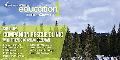 MT SheJumps Companion Rescue Clinic with Friends of GNFAC Bozeman tickets