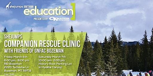 MT SheJumps Companion Rescue Clinic with Friends of GNFAC Bozeman