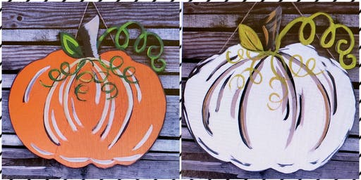Sip & Paint Wood Pumpkin