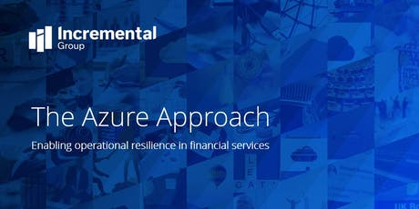 Microsoft Azure event: enable operational resilience in financial services tickets