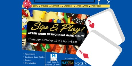 """SIP & PLAY"" After Work Networking Game Night! tickets"