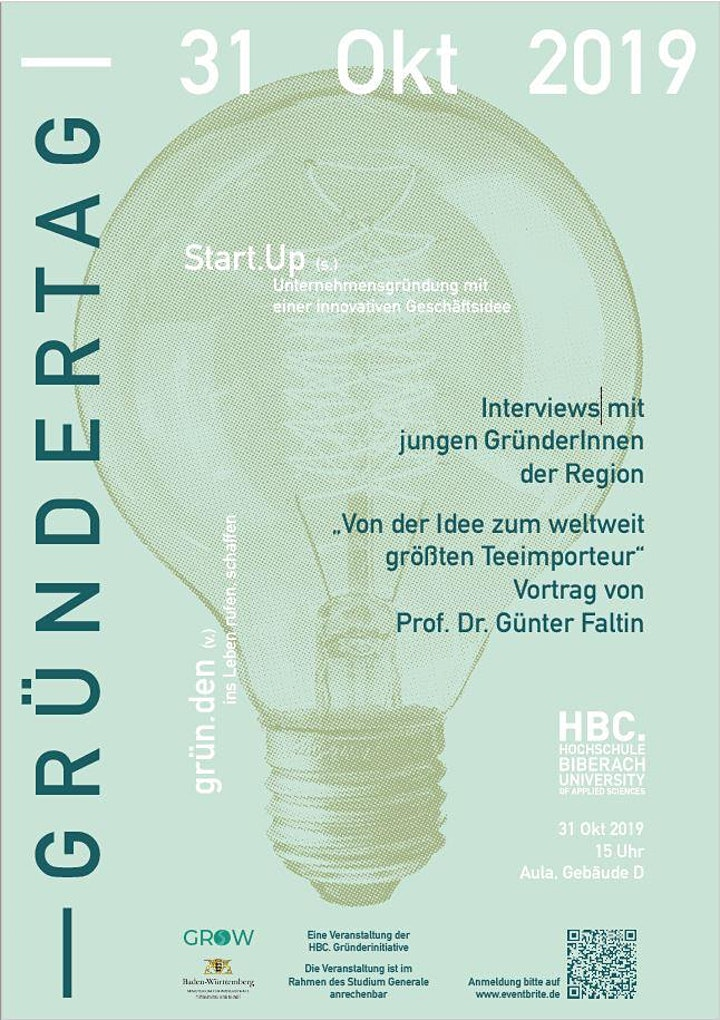 Gründertag an der Hochschule Biberach mit Prof. Dr. Günter Faltin: Bild