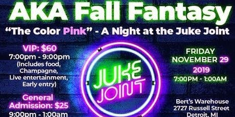 """The 14th Annual AKA Fall Fantasy - """"The Color Pink"""" - A Night at the Juke Joint tickets"""