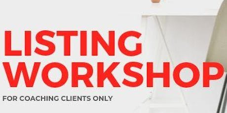 Coaching - Listing Workshop tickets