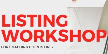 Coaching - Listing Workshop