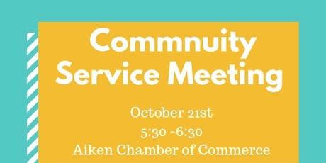 Aiken Young Professionals - Community Service Meeting  tickets