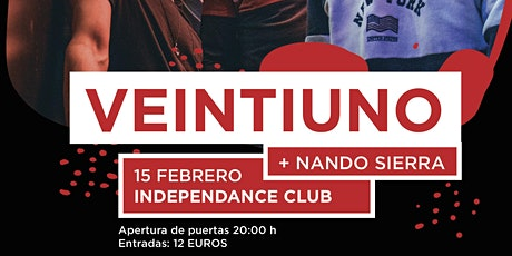 VEINTIUNO + NANDO SIERRA entradas