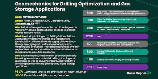 Workshop - Geomechanics for Drilling Optimization and Gas Storage