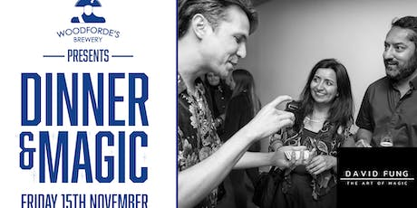 Woodforde's Presents: Dinner & Magic with David Fung tickets