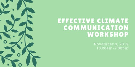 Effective Climate Communication Workshop