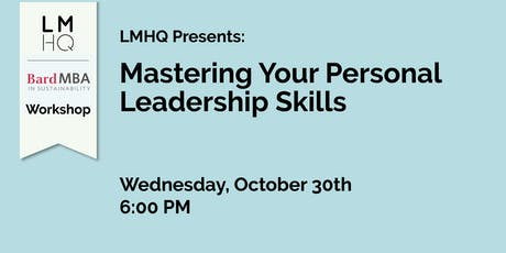 Mastering Your Personal Leadership Skills tickets