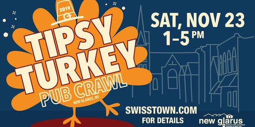 New Glarus Tipsy Turkey Pub Crawl 2019