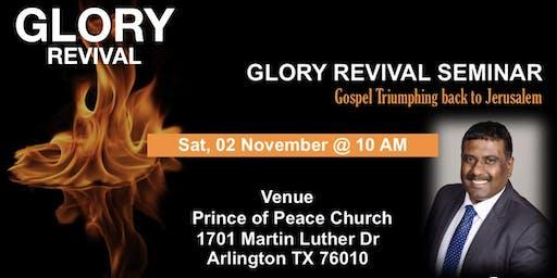 Coming Greater Glory Revival Seminar