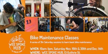 Bike maintenance classes tickets