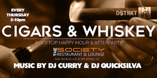 Cigars & Whiskey at Society Lounge Rooftop