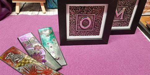 Decorative letter and bookmark workshop