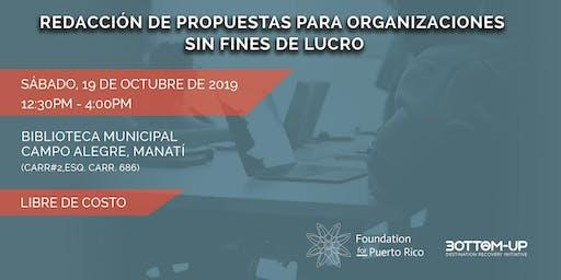Redacción de Propuestas para Organizaciones Sin Fines de Lucro (Manatí)