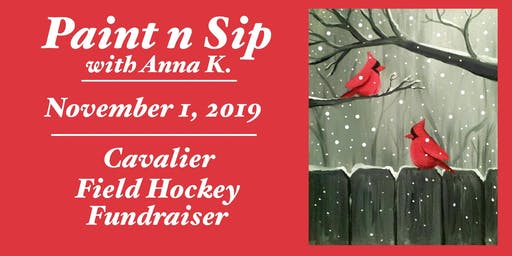 Paint n Sip- Winter Cardinals