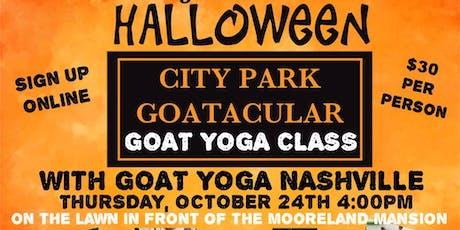 GOAT YOGA NASHVILLE- POP UP CLASS/CITY PARK BRENTWOOD/HALLOWEEN GOATACULAR tickets