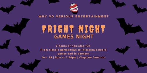 Fright Night games night