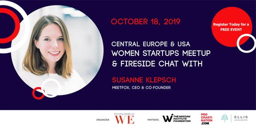 Meetup with Central Europe and USA Women led startups + Fireside Chat