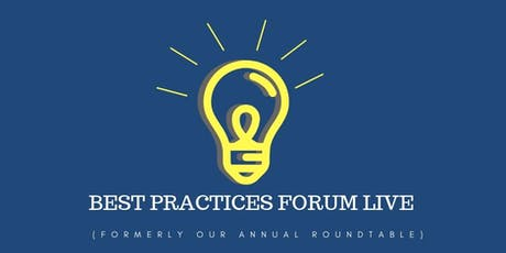 Best Practices Forum Live tickets