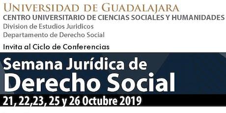 Semana Jurídica de Derecho Social 2019 entradas