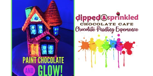 Blacklight Haunted House Chocolate Painting