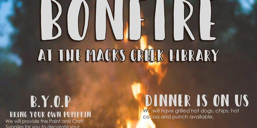 Bonfire, Stories, & More at the Macks Creek Library
