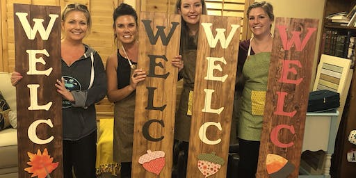 Welcome Sign Craft Night