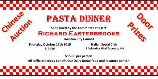 Pasta Dinner for Richard Easterbrooks