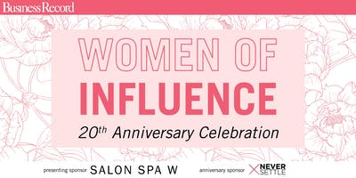 20th Anniversary Women of Influence
