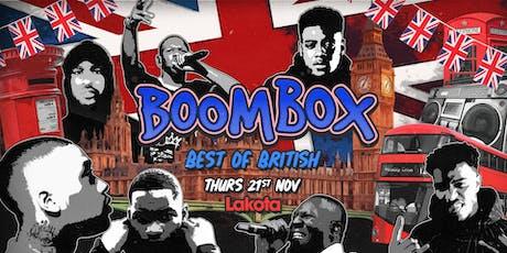 BoomBox: Best of British tickets